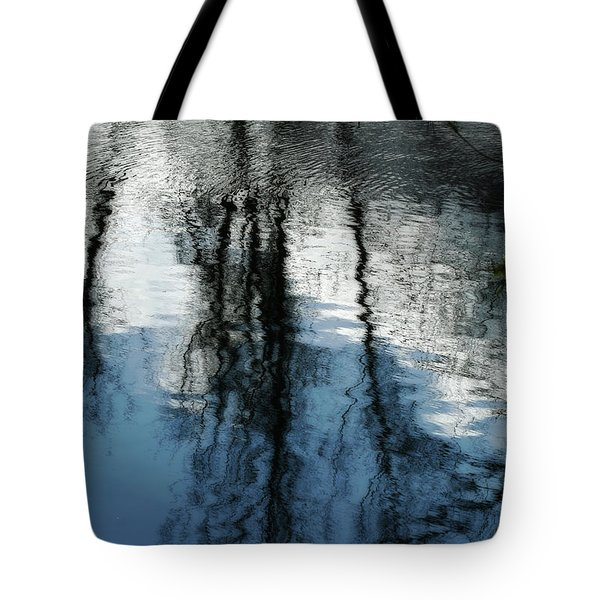 Blue And White Reflections Tote Bag