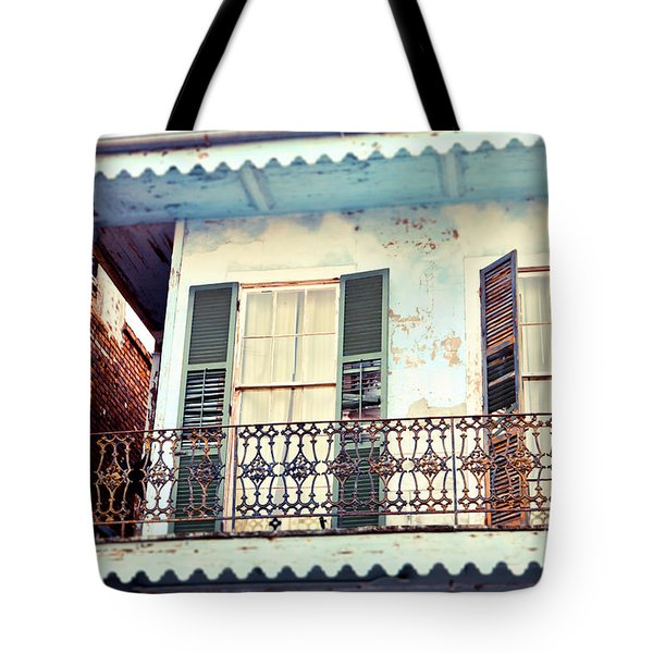 Tote Bag featuring the photograph Blue And Yellow House by Sylvia Cook