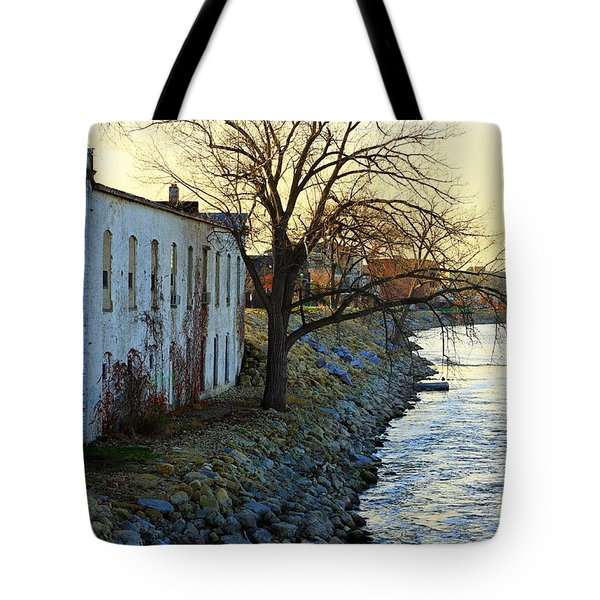 Blue And Yellow Morning Tote Bag