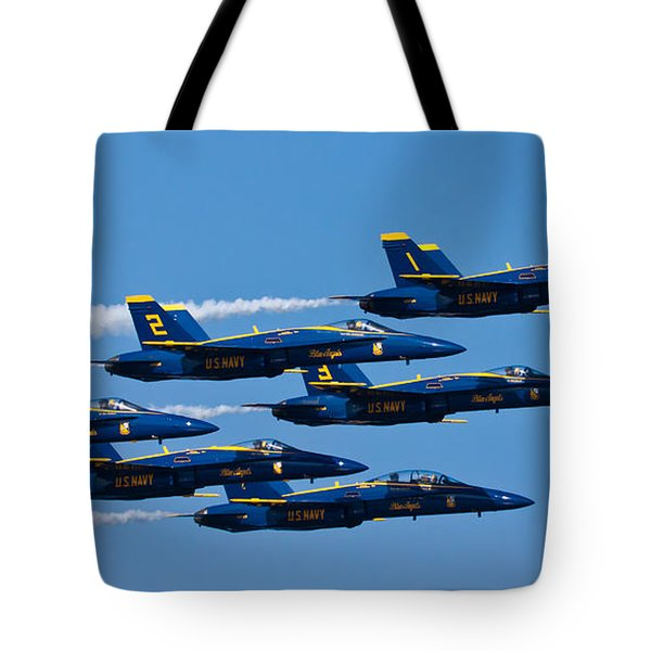 Blue Angels Tote Bag by Adam Romanowicz