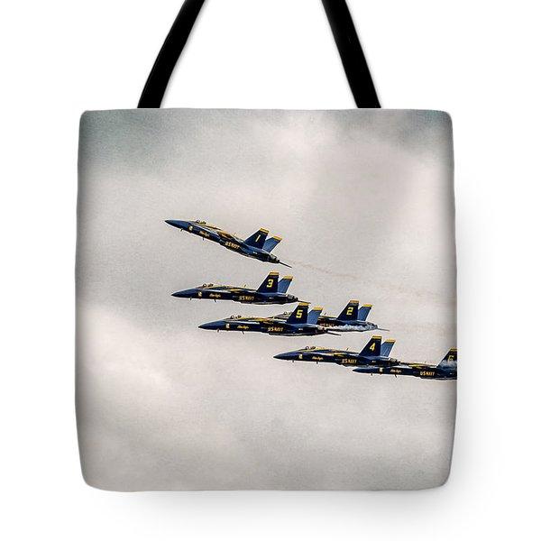 Blue Angels Tote Bag by Eduard Moldoveanu