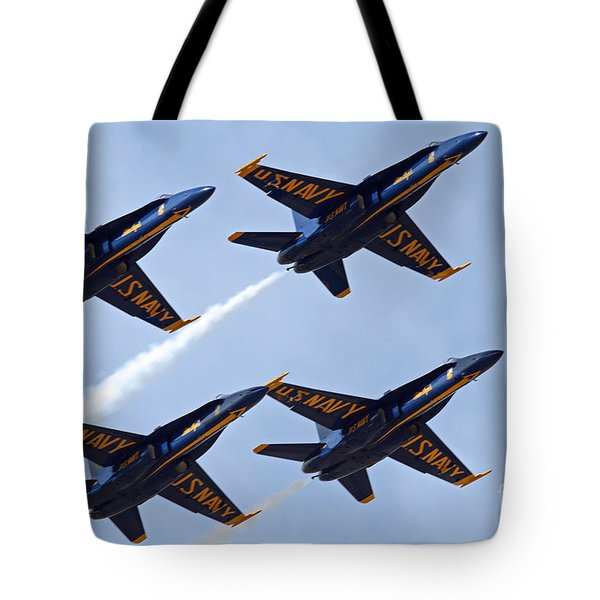 Blue Angels Over Colorado Tote Bag