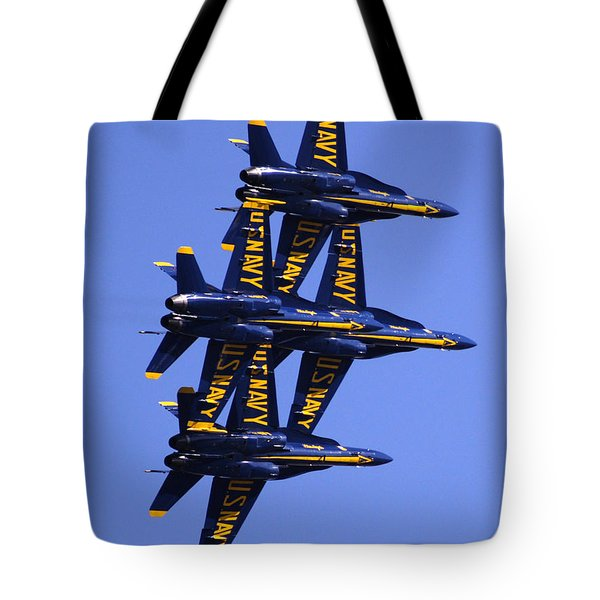 Blue Angels II Tote Bag by Bill Gallagher