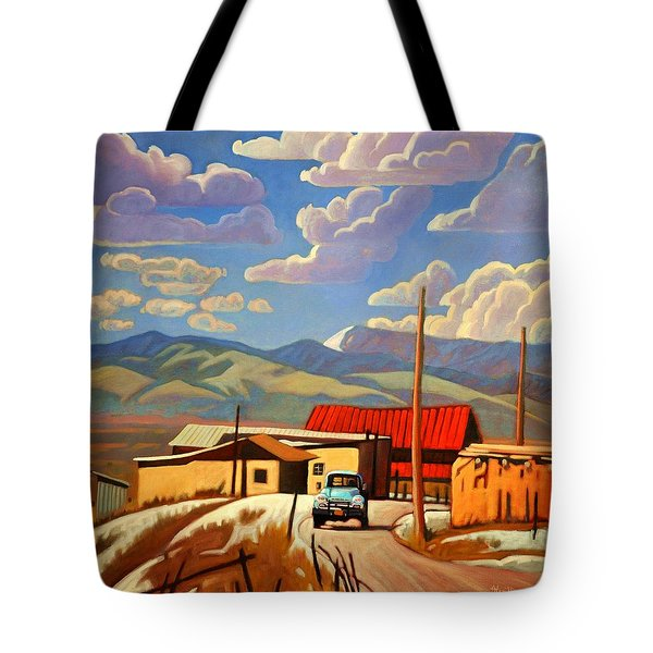 Blue Apache Tote Bag