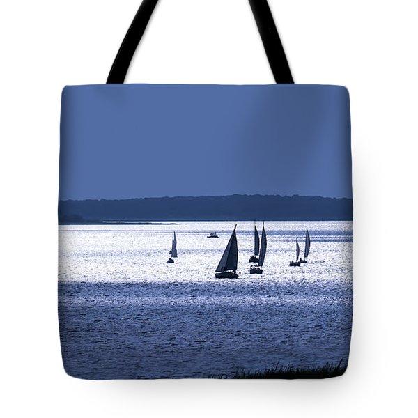 Blue Armada II Tote Bag