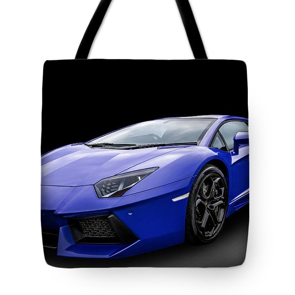 Blue Aventador Tote Bag by Matt Malloy