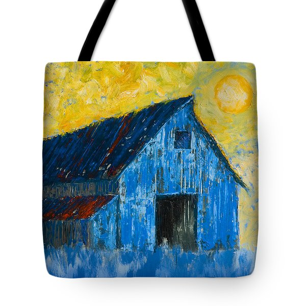 Blue Barn Number One Tote Bag by Jerry McElroy