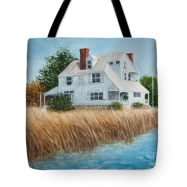 Blue Beach House Tote Bag