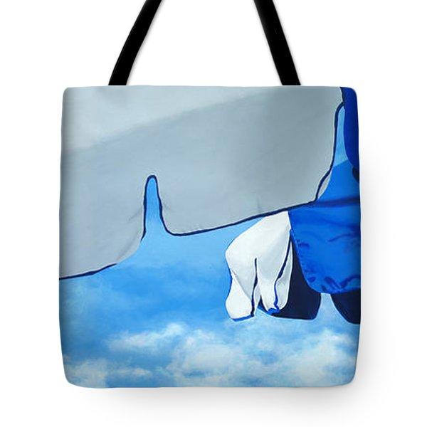 Blue Beach Umbrellas 2 Tote Bag