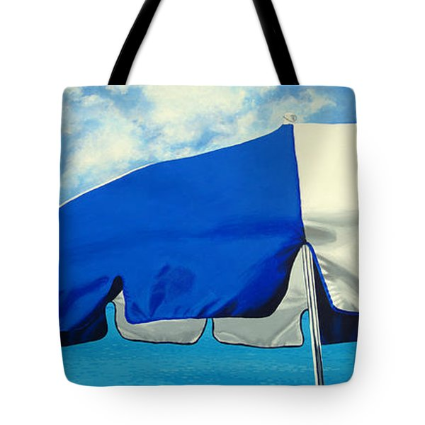 Blue Beach Umbrellas 1 Tote Bag