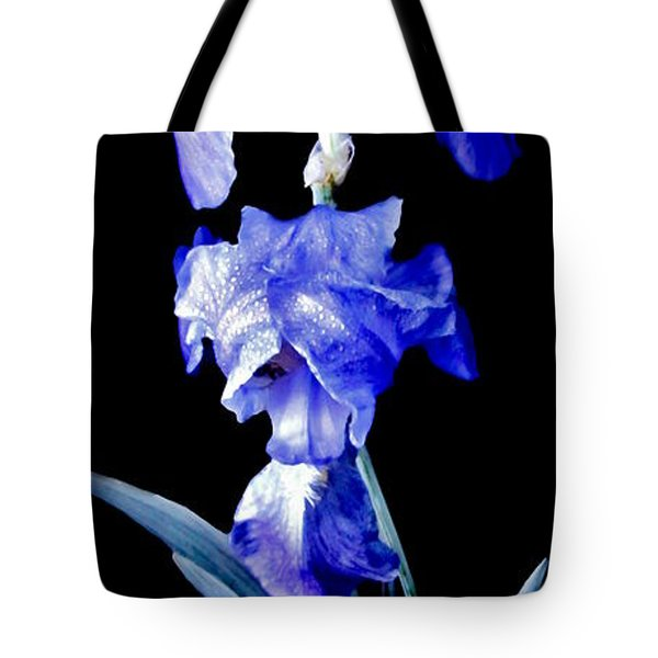 Blue Bearded Rhizomatous Irises Tote Bag