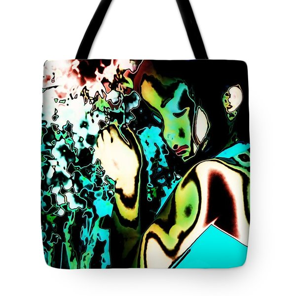 Tote Bag featuring the photograph Blue Beauty by Jessica Shelton