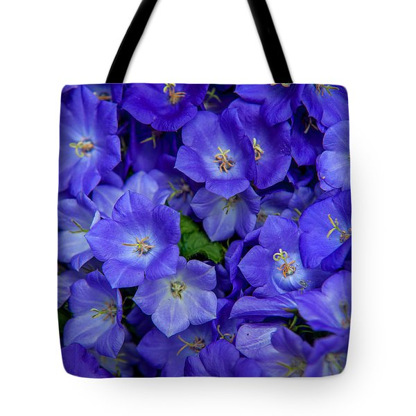 Blue Bells Carpet. Amsterdam Floral Market Tote Bag