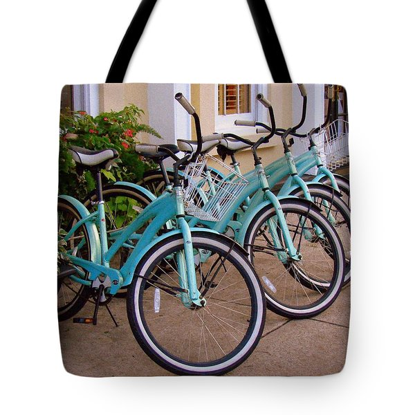 Blue Bikes Tote Bag