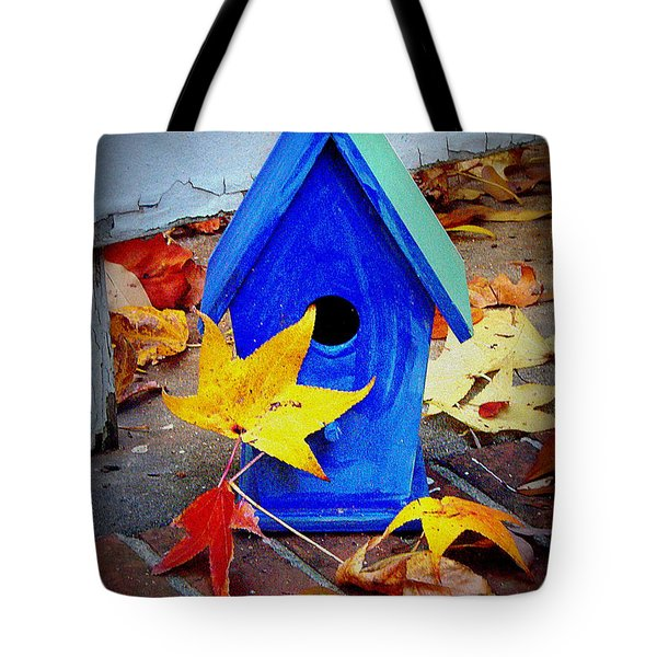 Tote Bag featuring the photograph Blue Bird House by Rodney Lee Williams