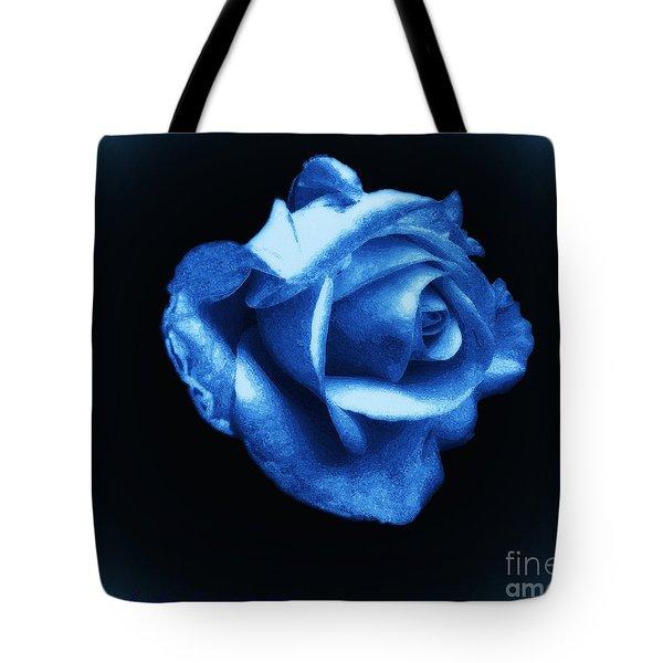 Blue Blue Rose Tote Bag