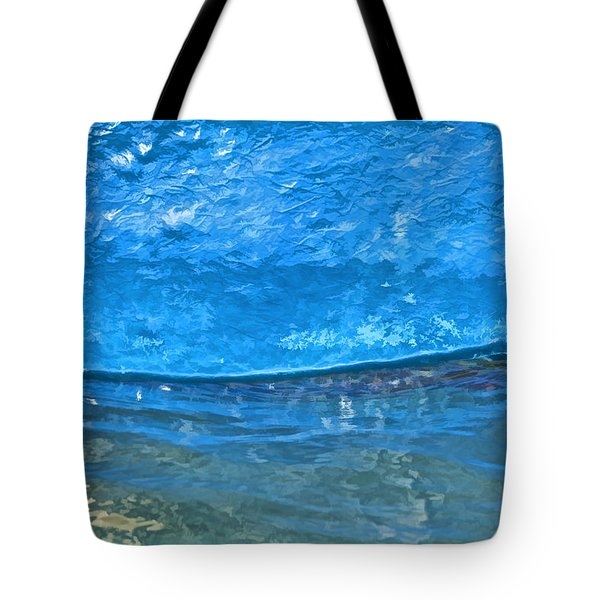 Tote Bag featuring the photograph Blue Boat Abstract by David Letts