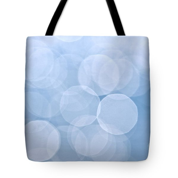 Blue Bokeh Background Tote Bag by Elena Elisseeva