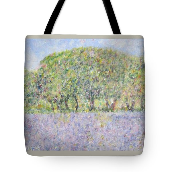 Blue Bonnets  Field In  Texas Tote Bag
