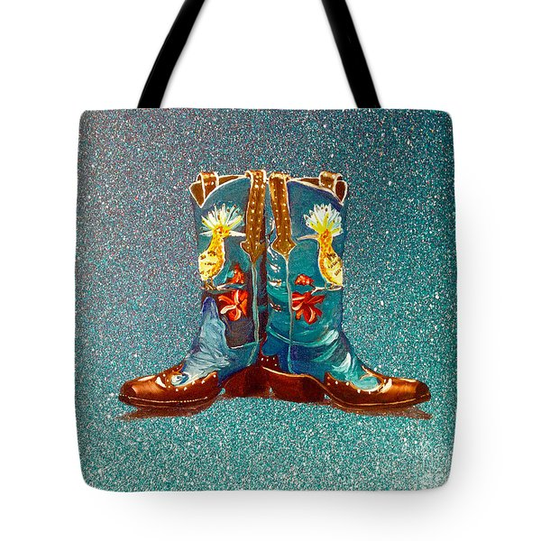 Blue Boots Tote Bag