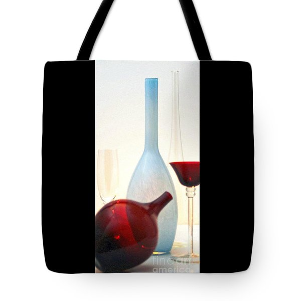 Tote Bag featuring the photograph Blue Bottle by Elf Evans
