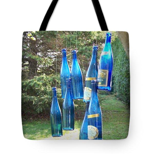 Blue Bottle Tree Tote Bag