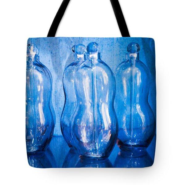 Blue Bottles Tote Bag