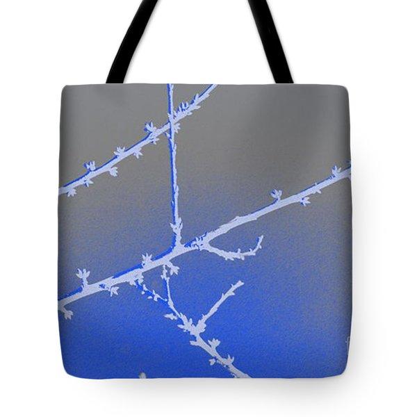 Blue Branches 2 Tote Bag by Carol Lynch