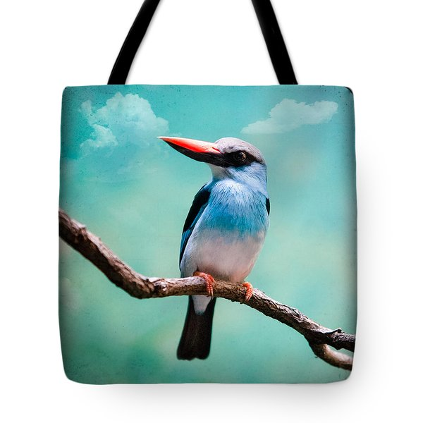 Tote Bag featuring the photograph Blue Breasted Kingfisher by Gary Heller