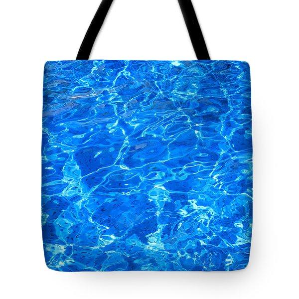 Aqua Blue Tote Bag by Brian Chase