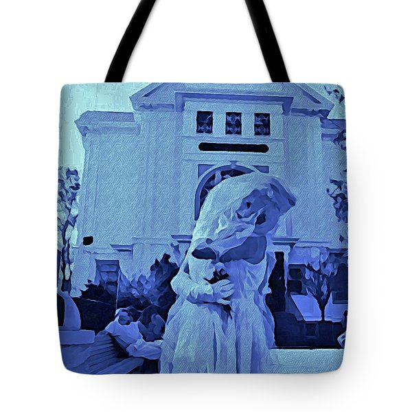 Blue Bride Tote Bag by John Malone