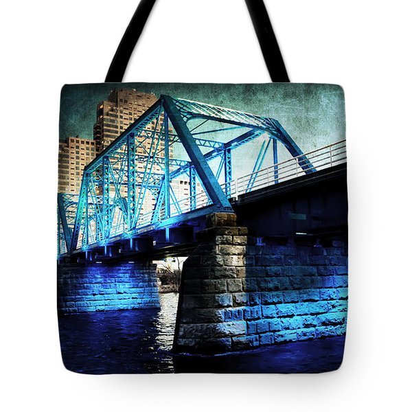 Blue Bridge Tote Bag