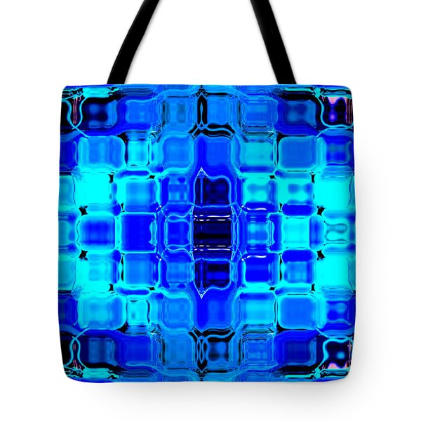Blue Bubble Glass Tote Bag by Anita Lewis