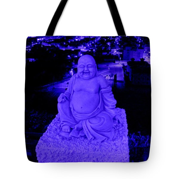 Blue Buddha And The Blue City Tote Bag
