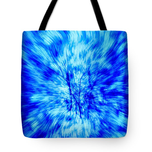 Blue Burst Of Autumn Tote Bag