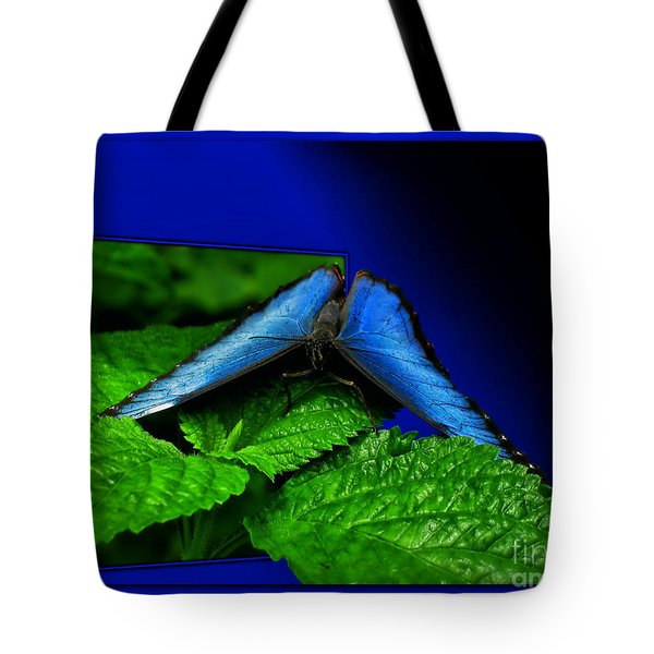 Blue Butterfly 02 Tote Bag by Thomas Woolworth