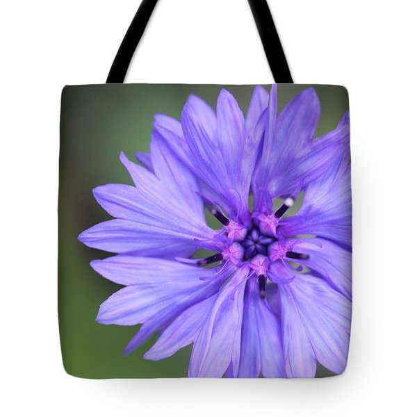 Blue Button Tote Bag