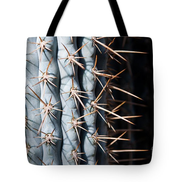 Blue Cactus Tote Bag by John Wadleigh