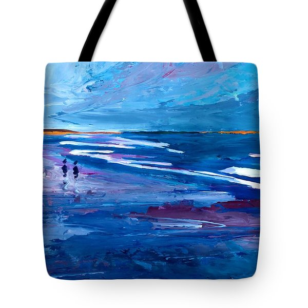 Blue Californian Seascape In Big Sur Tote Bag by M Bleichner