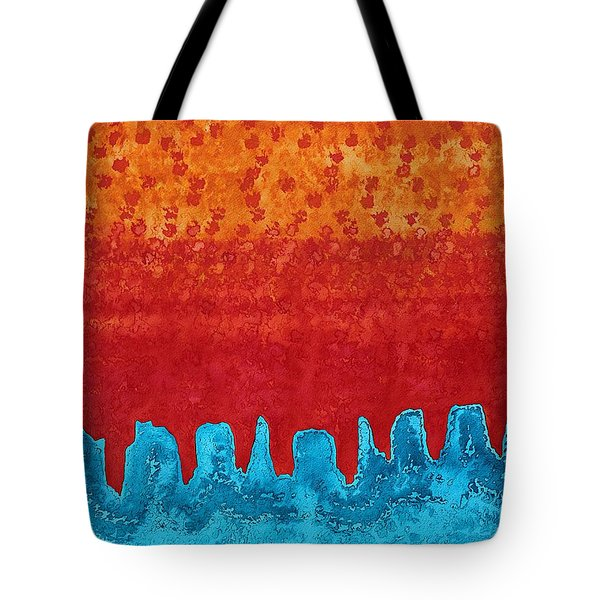 Blue Canyon Original Painting Tote Bag