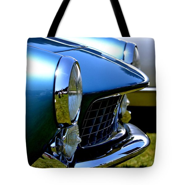 Tote Bag featuring the photograph Blue Car by Dean Ferreira