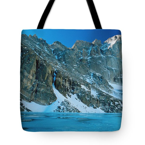 Blue Chasm Tote Bag