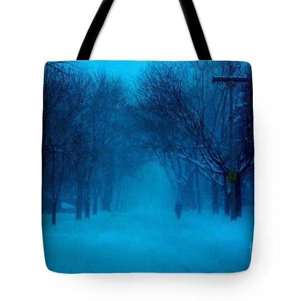 Blue Chicago Blizzard  Tote Bag