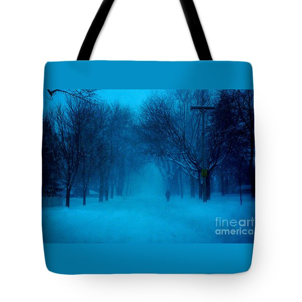 Blue Chicago Blizzard  Tote Bag