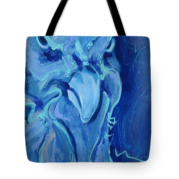 Blue Chicken Tote Bag