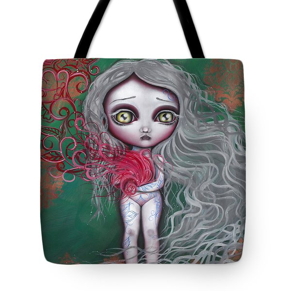 Blue China Tote Bag by Abril Andrade Griffith