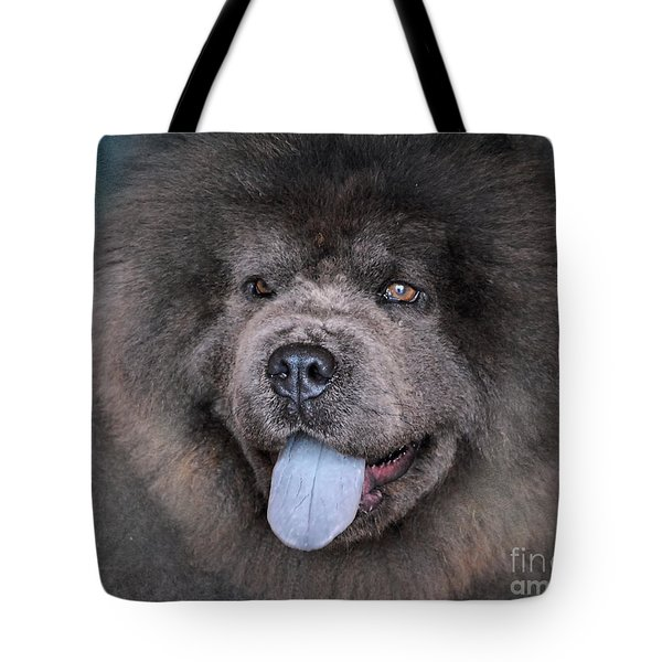 Blue Chow Chow Tote Bag