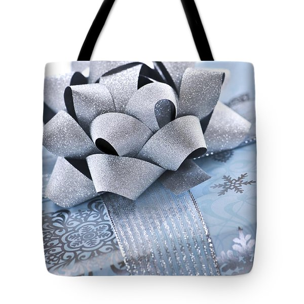 Blue Christmas Gift Tote Bag