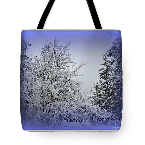 Blue Christmas Tote Bag