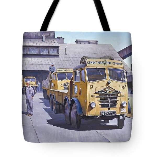 Blue Circle Fodens Tote Bag by Mike  Jeffries